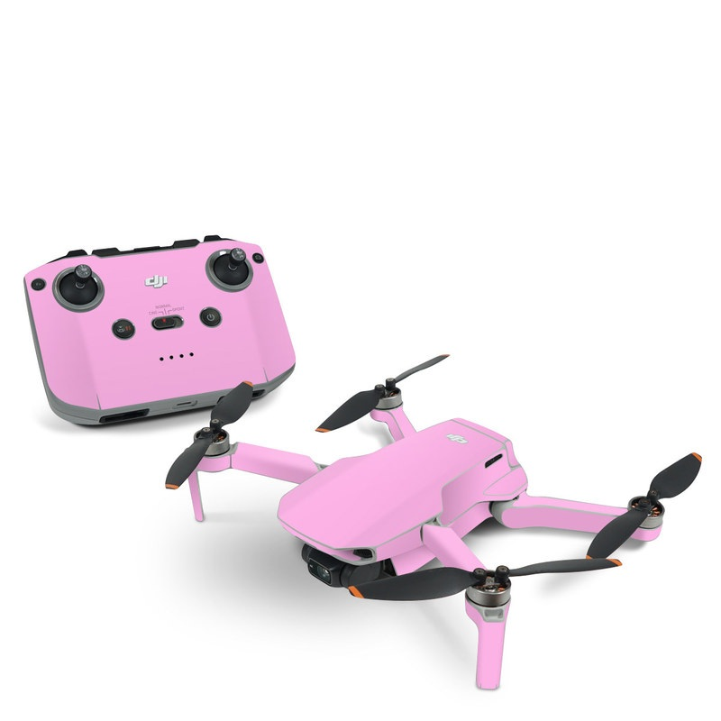 DJI Mavic Mini 2 Skin design of Pink, Violet, Purple, Red, Magenta, Lilac, Sky, Material property, Peach with pink colors