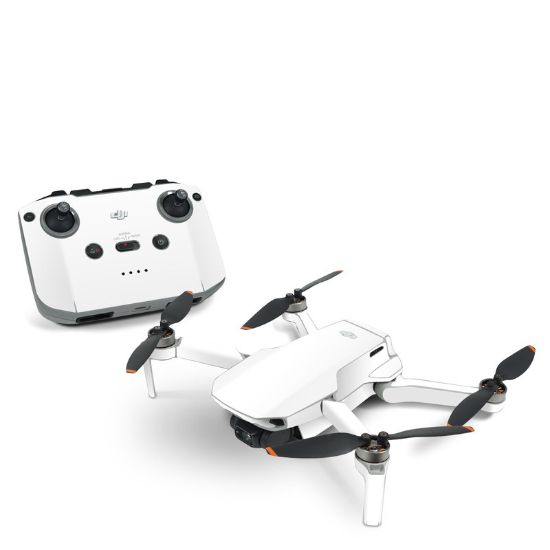 DJI Mavic Mini 2 Skin design of White, Black, Line with white colors