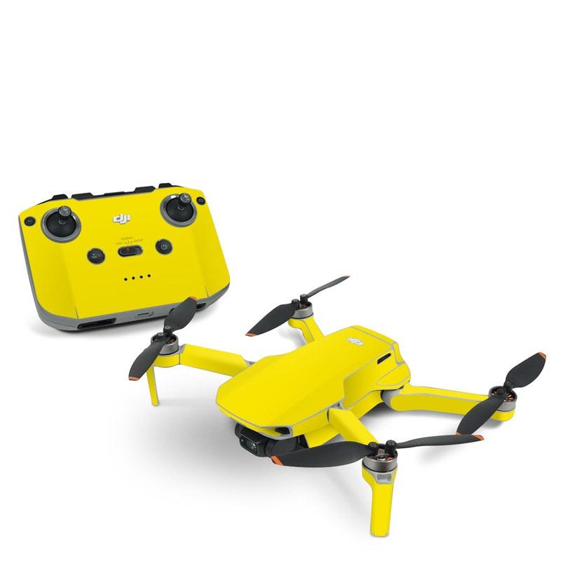 DJI Mavic Mini 2 Skin design of Green, Yellow, Orange, Text, Font with yellow colors