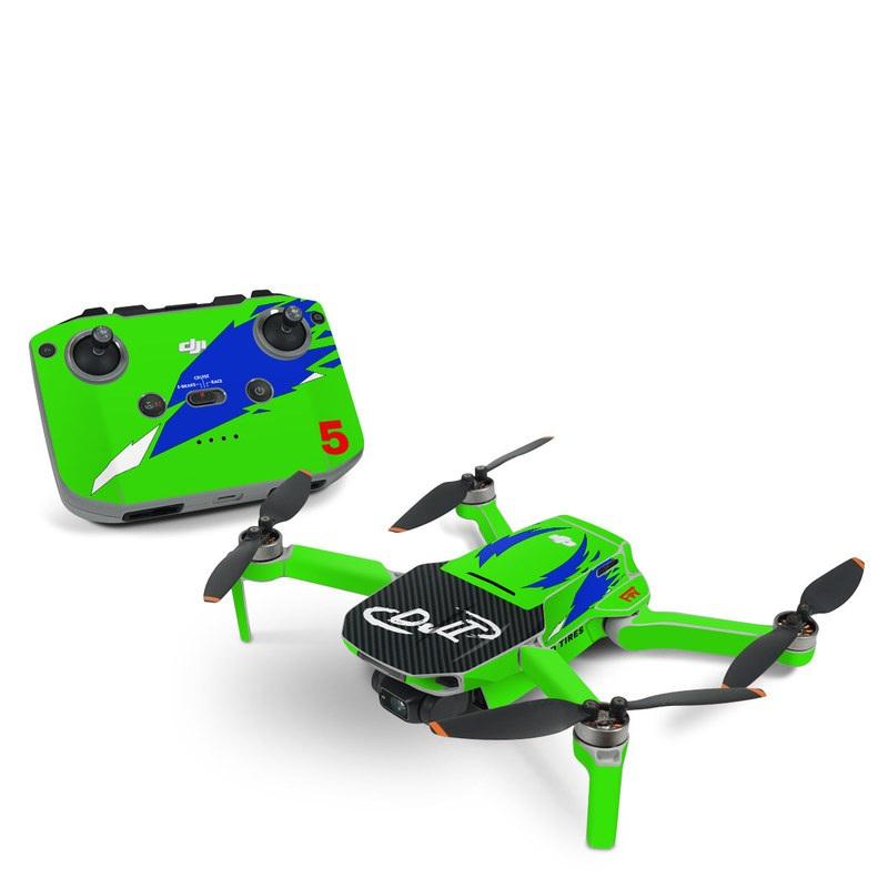 DJI Mavic Mini 2 Skin design with green, blue, white, black colors