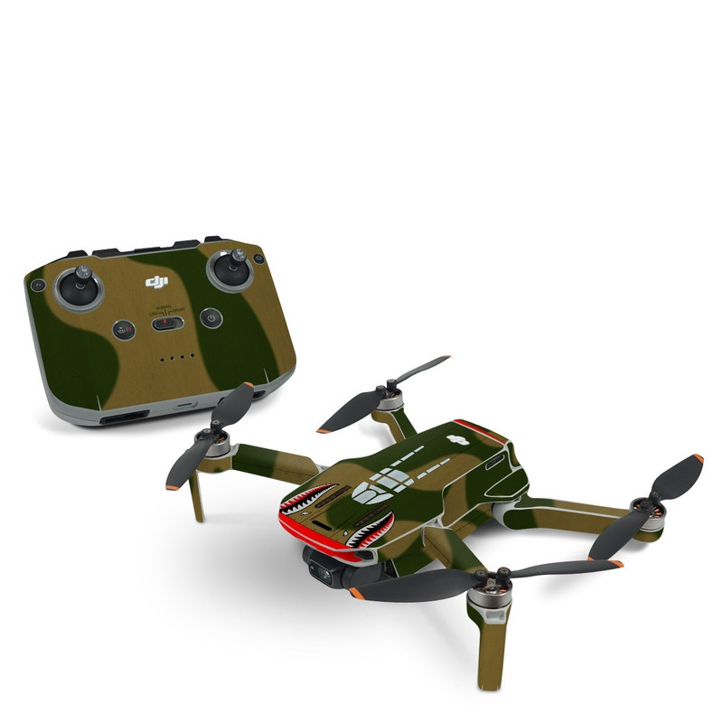 DJI Mavic Mini 2 Skin design with green, red, white, black colors