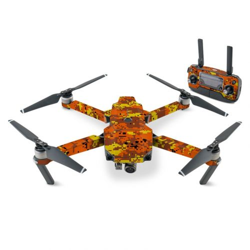 Digital Orange Camo DJI Mavic Pro Skin