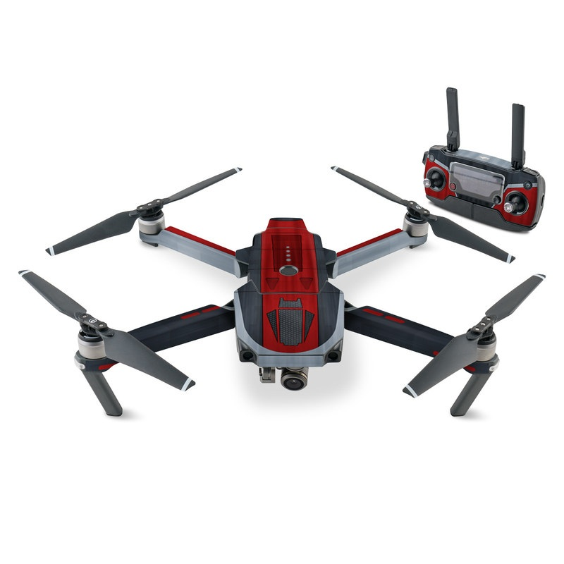 DJI Mavic Pro Skin design with black, red, gray colors