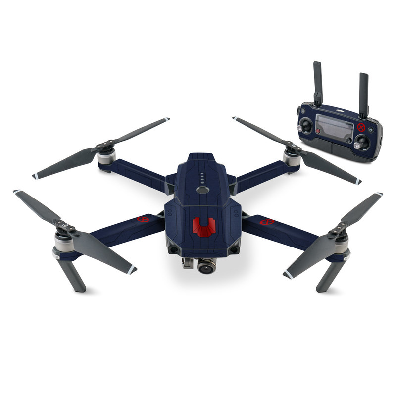 DJI Mavic Pro Skin design with blue, red colors