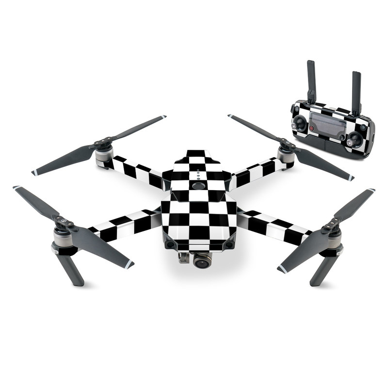 DJI Mavic Pro Skin design of Black, Photograph, Games, Pattern, Indoor games and sports, Black-and-white, Line, Design, Recreation, Square with black, white colors