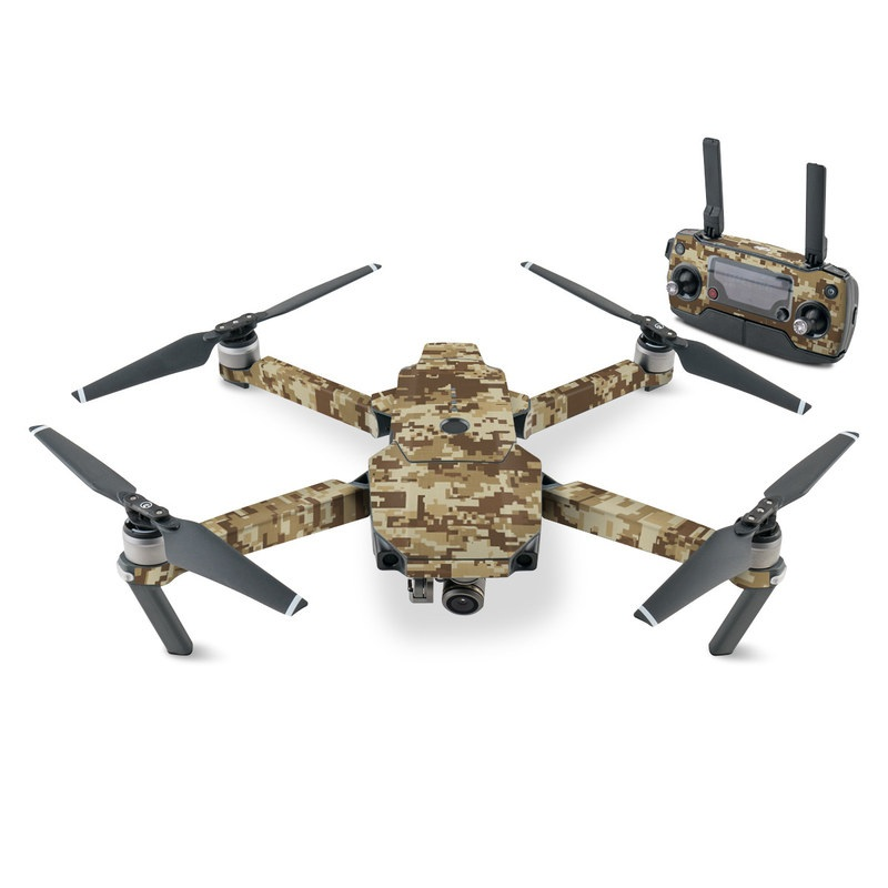 DJI Mavic Pro Skin design of Military camouflage, Brown, Pattern, Camouflage, Wall, Beige, Design, Textile, Uniform, Flooring with brown colors