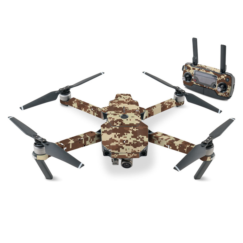 DJI Mavic Pro Skin design of Military camouflage, Camouflage, Pattern, Brown, Uniform, Design, Textile, Beige, Metal with black, gray, red, green colors