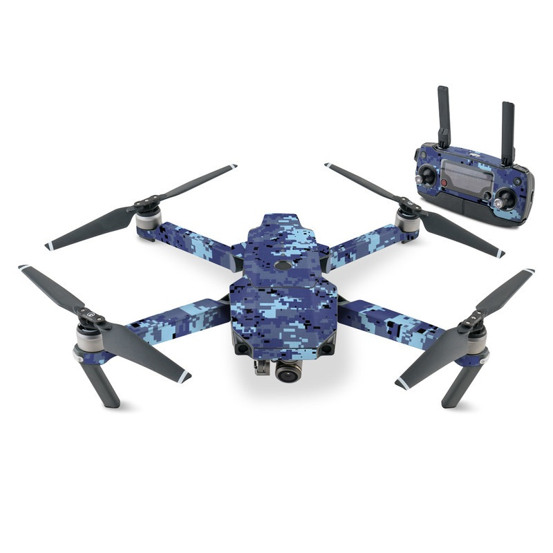 DJI Mavic Pro Skin design of Blue, Purple, Pattern, Lavender, Violet, Design with blue, gray, black colors