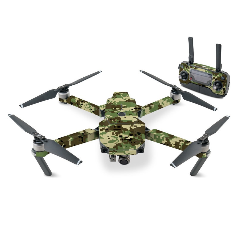 Digital Woodland Camo DJI Mavic Pro Skin