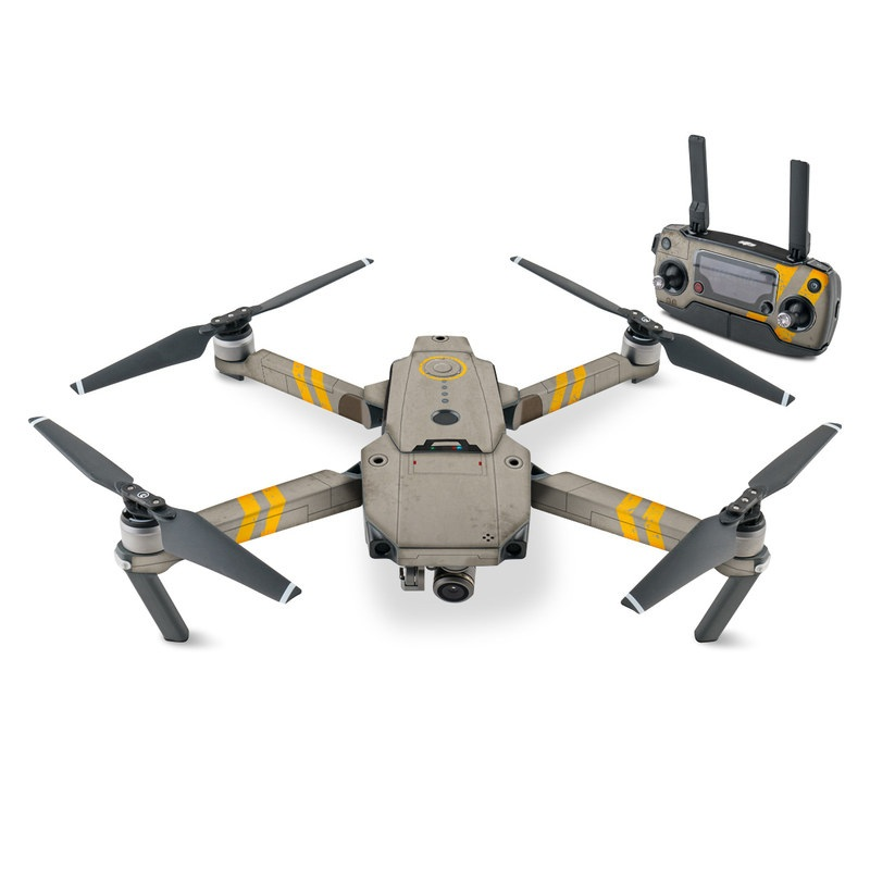 DJI Mavic Pro Skin design with gray, yellow colors