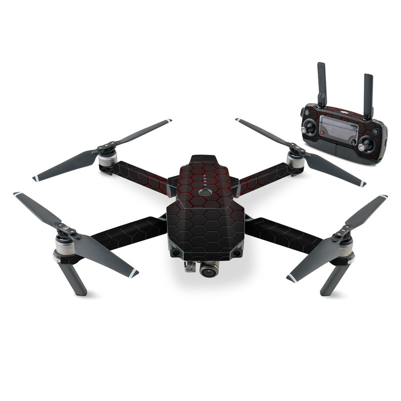 DJI Mavic Pro Skin design with black, gray, red colors