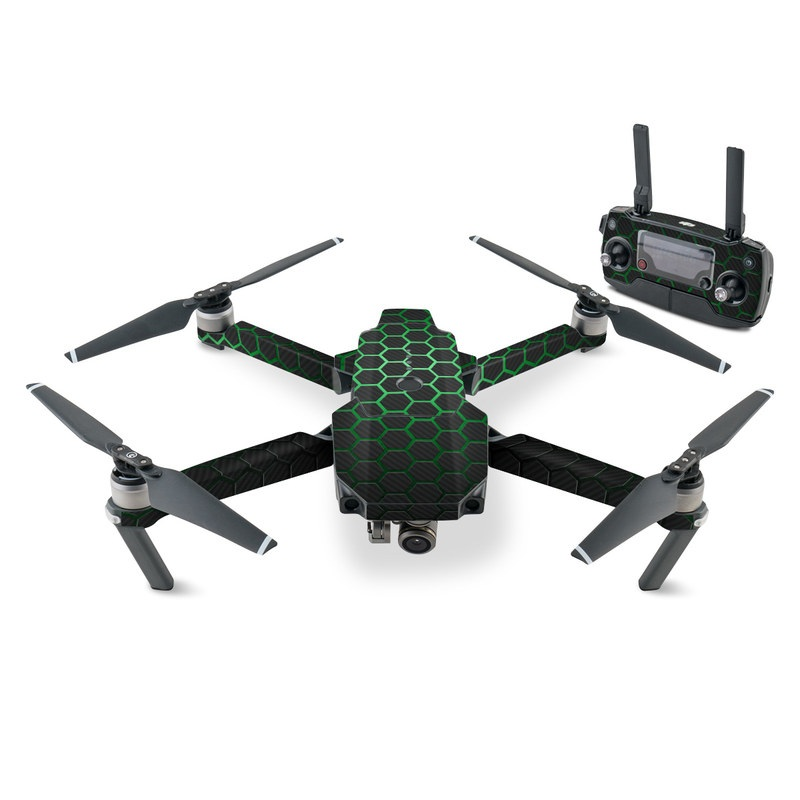 DJI Mavic Pro Skin design with black, gray, green colors