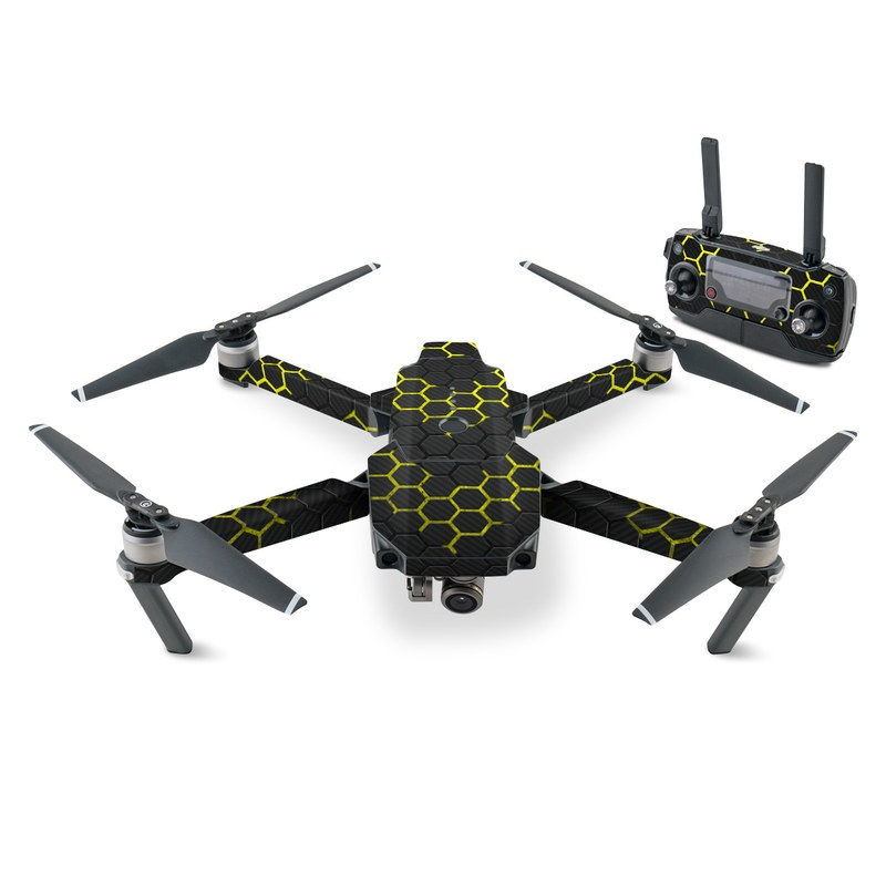 DJI Mavic Pro Skin design with black, gray, yellow colors