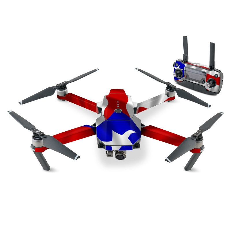 DJI Mavic Pro Skin design of Flag, Flag of the united states, Flag Day (USA), Veterans day, Independence day with red, blue, white colors