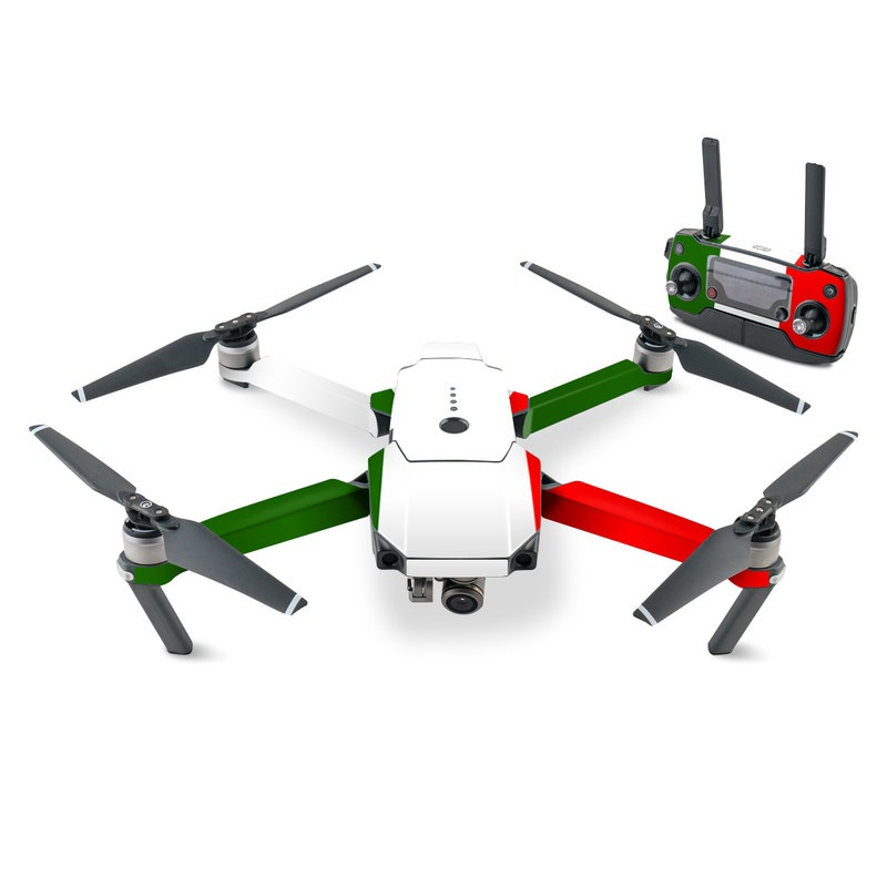DJI Mavic Pro Skin design of Green, Red, Pink, Turquoise, Material property, Magenta, Font, Rectangle, Pattern, Graphic design with white, red, green colors