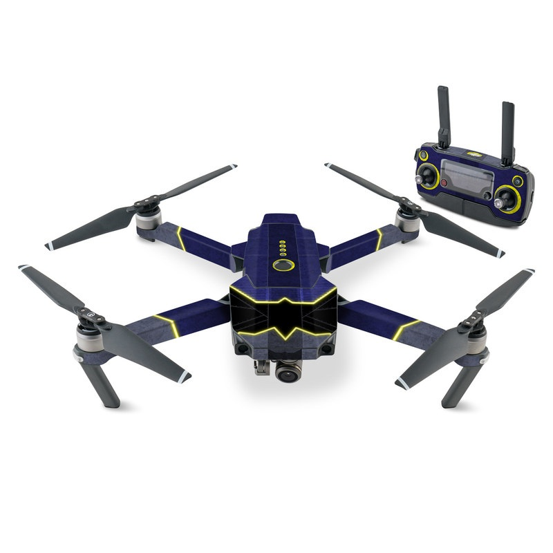 DJI Mavic Pro Skin design with black, blue, yellow, gray colors