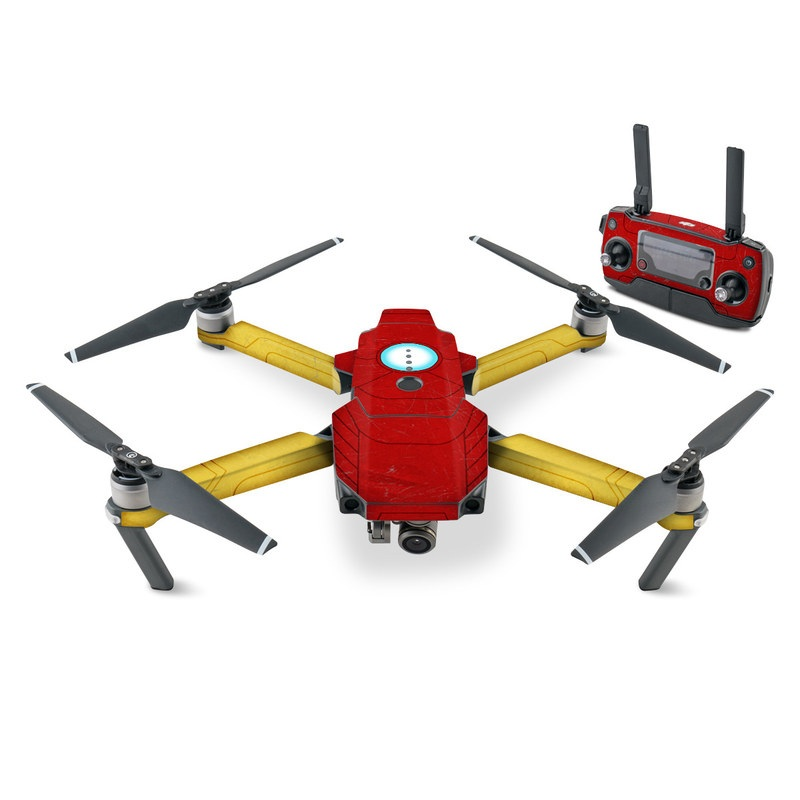 DJI Mavic Pro Skin design with red, yellow, white colors