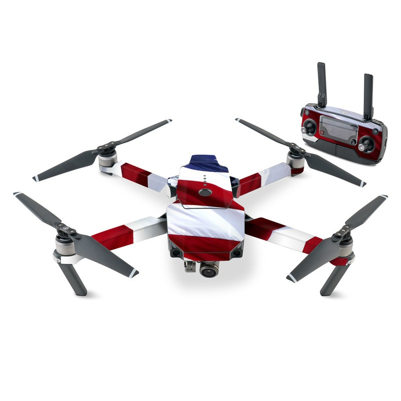 DJI Mavic Pro Skin design of Flag, Flag of the united states, Flag Day (USA), Veterans day, Memorial day, Holiday, Independence day, Event with red, blue, white colors