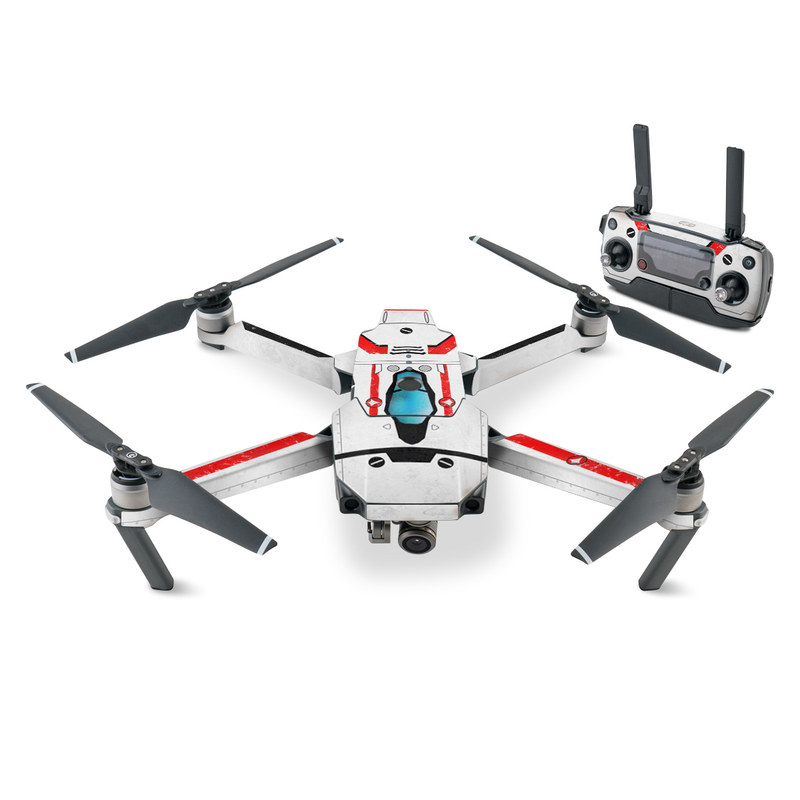 DJI Mavic Pro Skin design with white, red, blue colors
