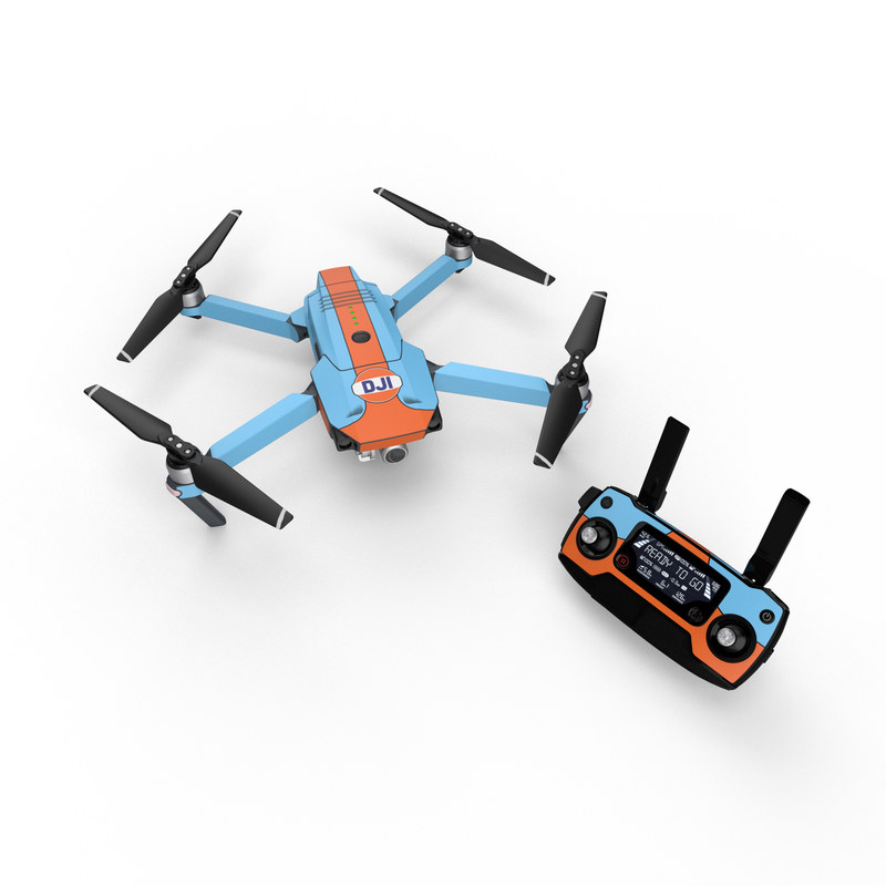DJI Mavic Pro Skin design with blue, orange colors