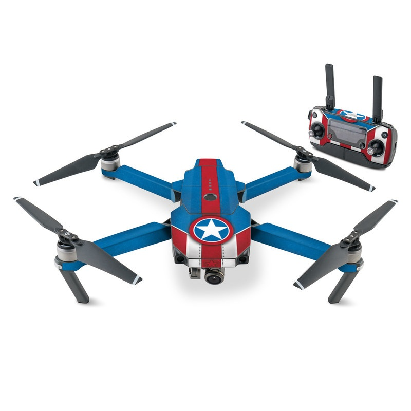 DJI Mavic Pro Skin design with white, blue, red colors