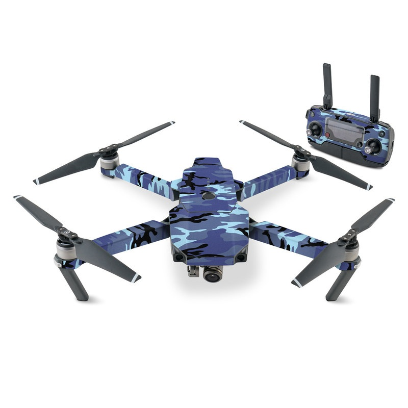 DJI Mavic Pro Skin design of Military camouflage, Pattern, Blue, Aqua, Teal, Design, Camouflage, Textile, Uniform with blue, black, gray, purple colors