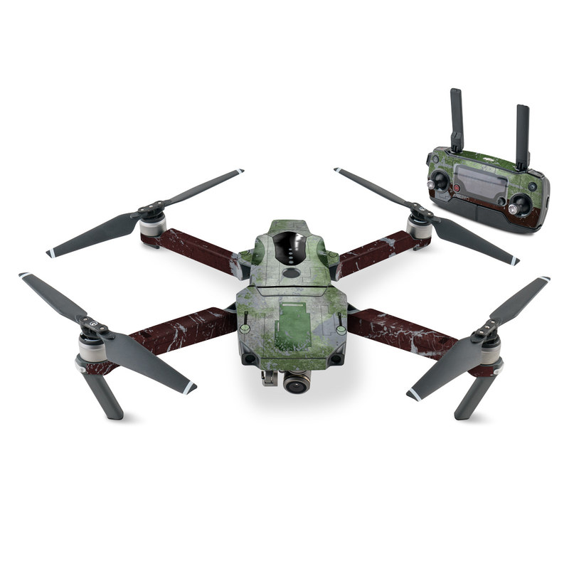 DJI Mavic Pro Skin design with red, green, gray colors