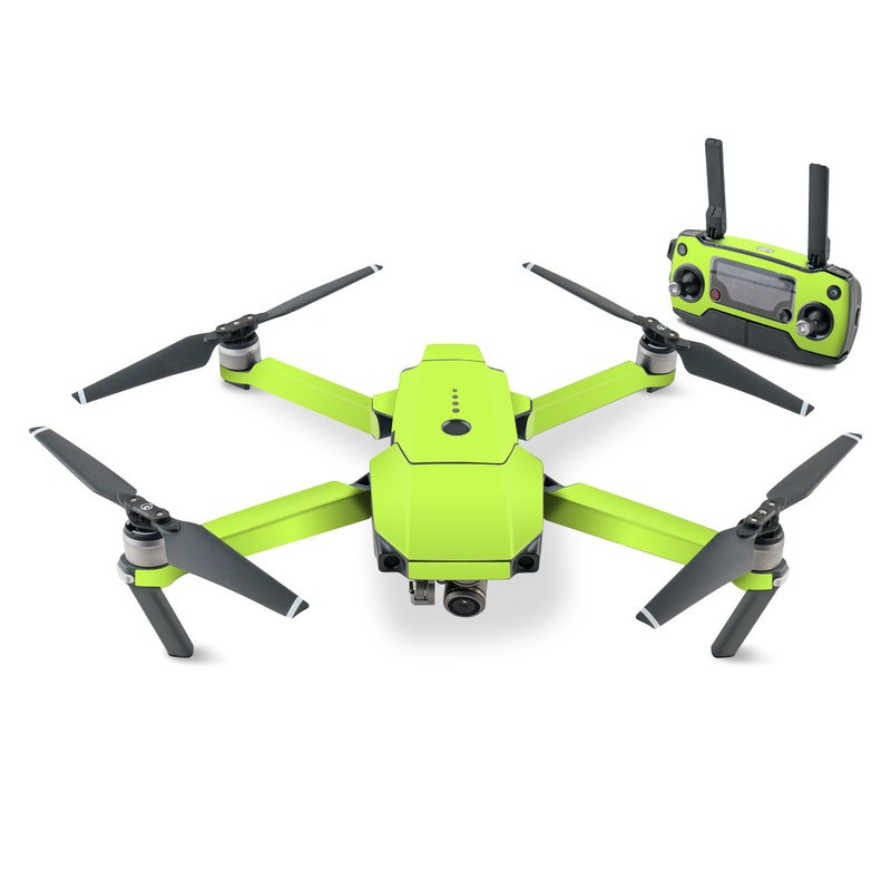 DJI Mavic Pro Skin design of Green, Yellow, Text, Leaf, Font, Grass with green colors