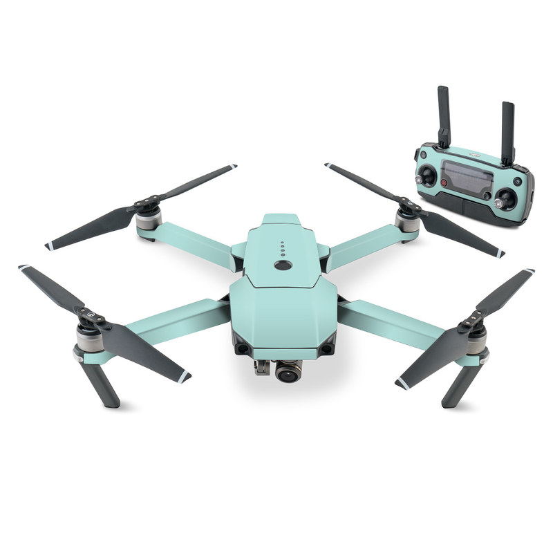 DJI Mavic Pro Skin design of Green, Blue, Aqua, Turquoise, Teal, Azure, Text, Daytime, Yellow, Sky with blue colors