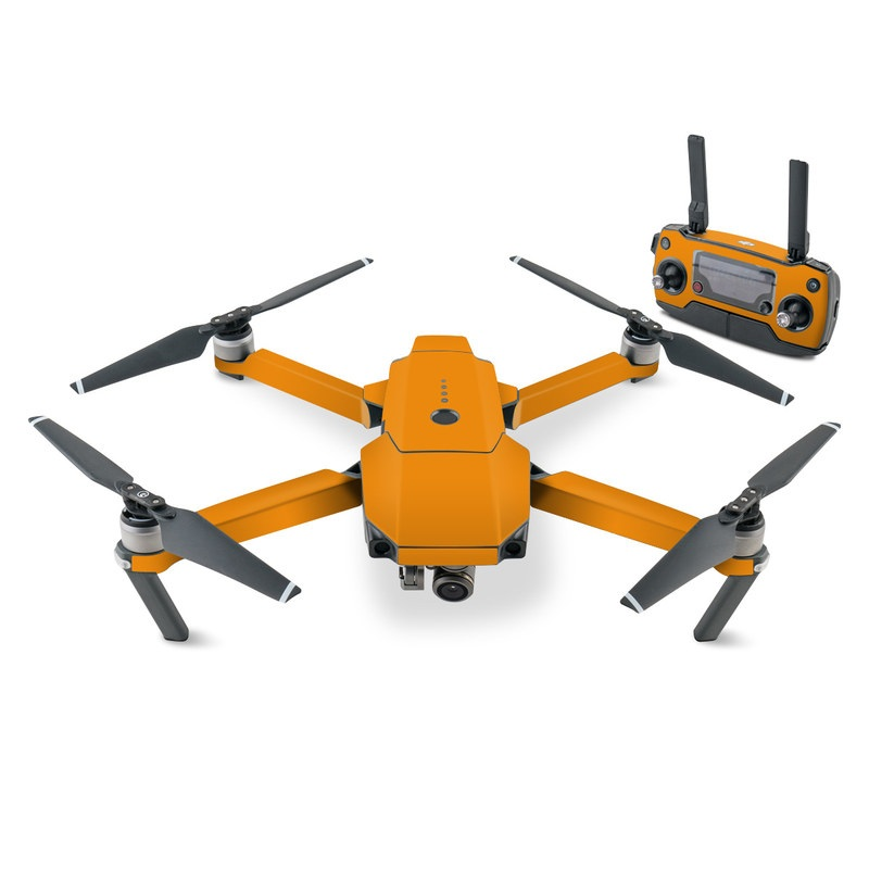 DJI Mavic Pro Skin design of Orange, Yellow, Brown, Text, Amber, Font, Peach with orange colors