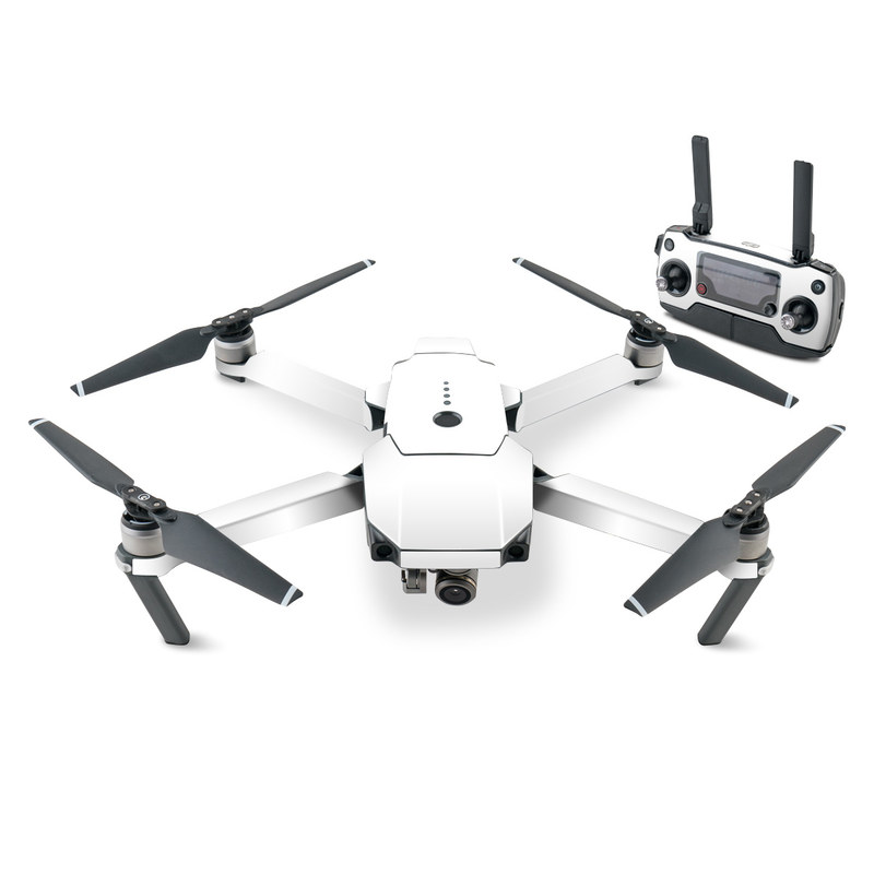 DJI Mavic Pro Skin design of White, Black, Line with white colors