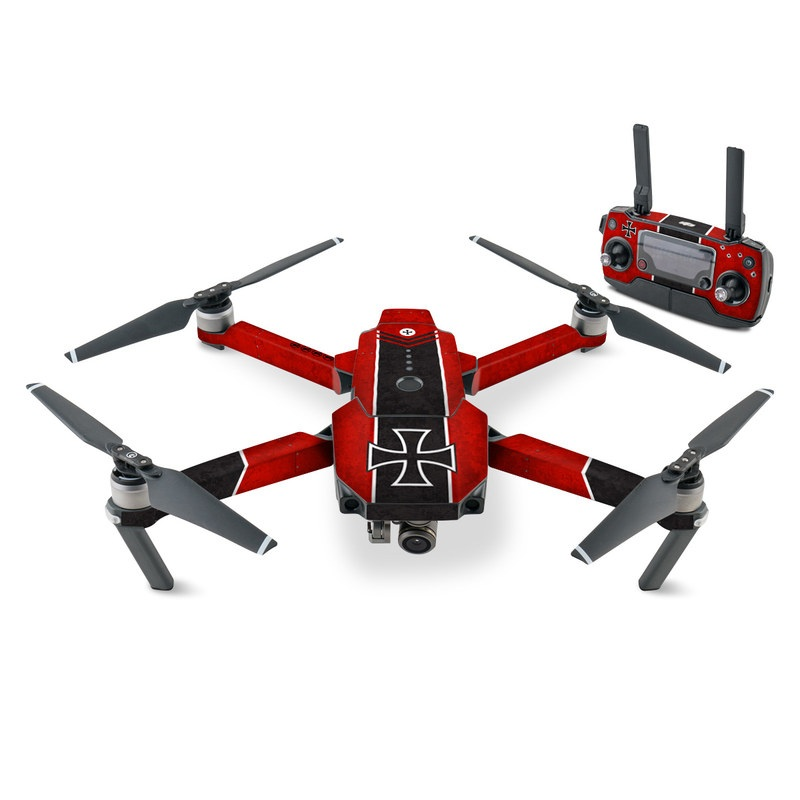 DJI Mavic Pro Skin design with red, black, white colors
