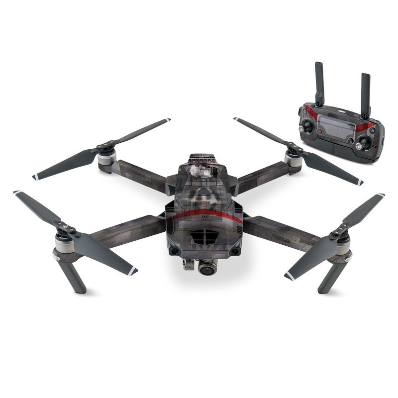 DJI Mavic Pro Skin design with black, gray, red, white colors