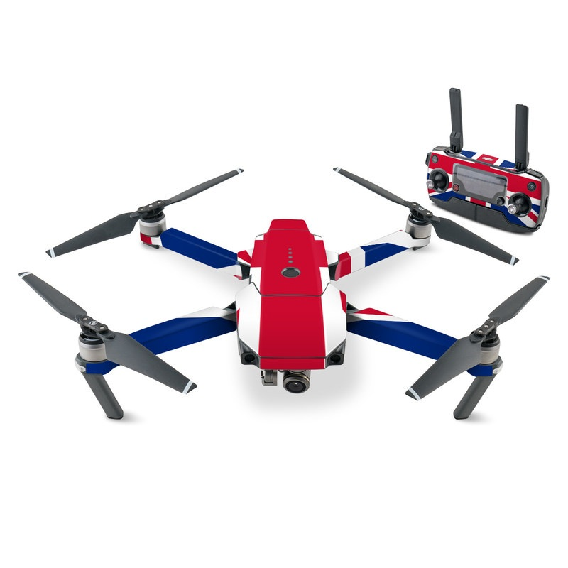 DJI Mavic Pro Skin design of Flag, Red, Line, Electric blue, Design, Font, Pattern, Parallel, Flag Day (USA) with red, white, blue colors