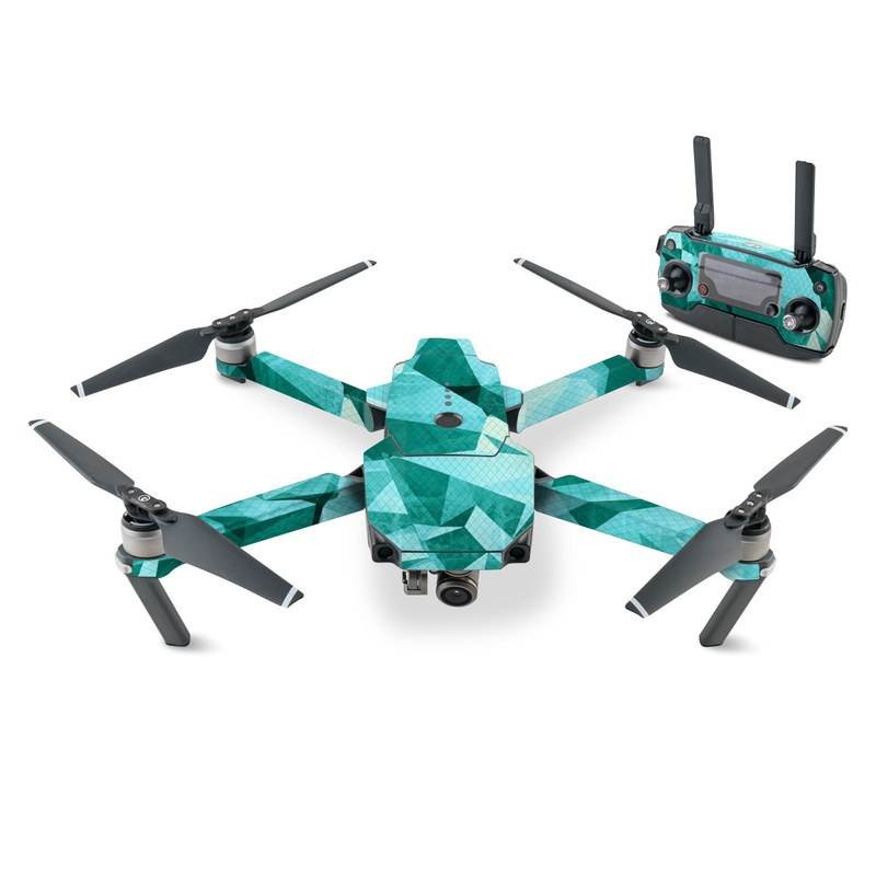 DJI Mavic Pro Skin design of Aqua, Blue, Pattern, Turquoise, Illustration, Teal, Design, Line, Graphic design with blue colors