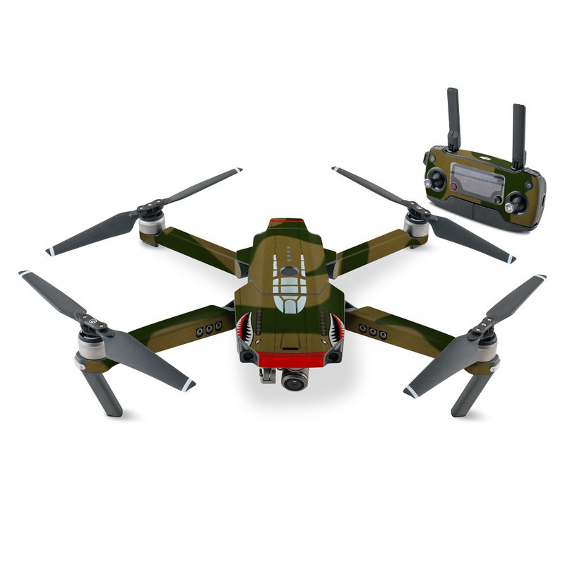 DJI Mavic Pro Skin design with green, red, white, black colors
