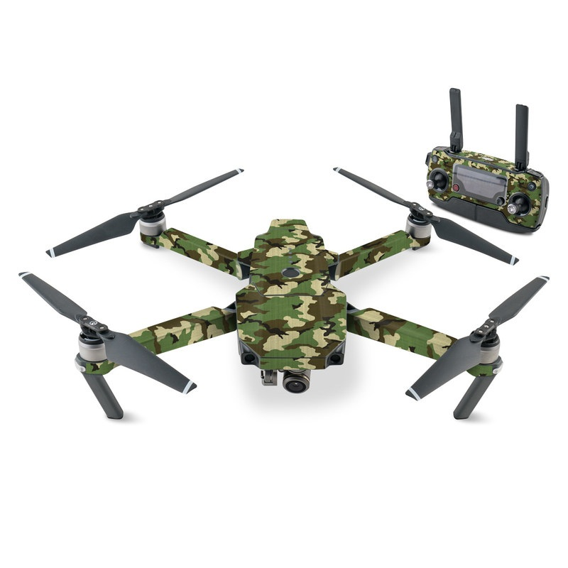DJI Mavic Pro Skin design of Military camouflage, Camouflage, Clothing, Pattern, Green, Uniform, Military uniform, Design, Sportswear, Plane with black, gray, green colors