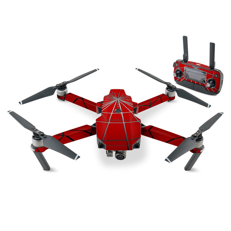 DJI Mavic Pro Skin design of Red, Symmetry, Circle, Pattern, Line with red, black, gray colors