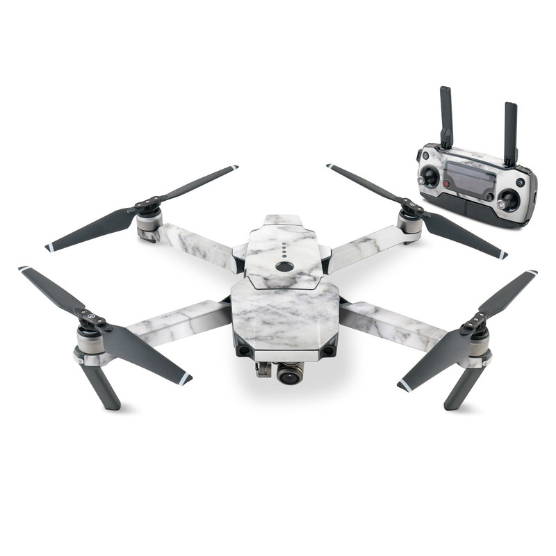 DJI Mavic Pro Skin design of White, Geological phenomenon, Marble, Black-and-white, Freezing with white, black, gray colors