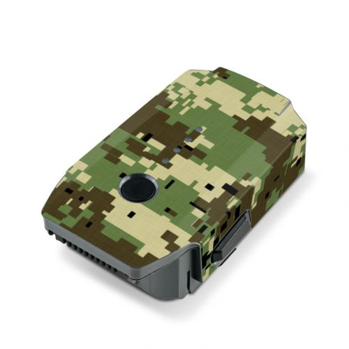 Digital Woodland Camo DJI Mavic Pro Battery Skin