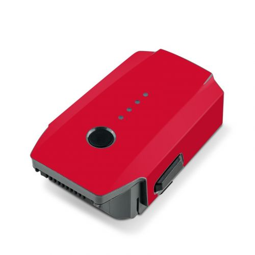 Solid State Red DJI Mavic Pro Battery Skin