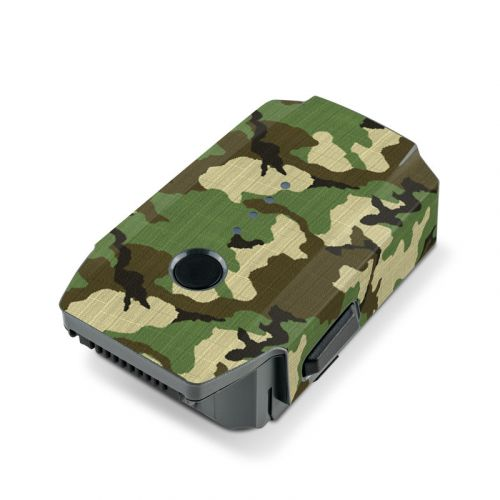 Woodland Camo DJI Mavic Pro Battery Skin