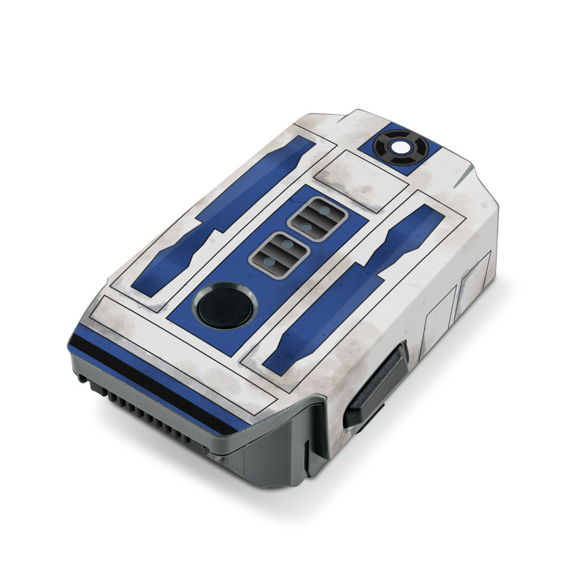 DJI Mavic Pro Battery Skin design with blue, gray, green, red colors