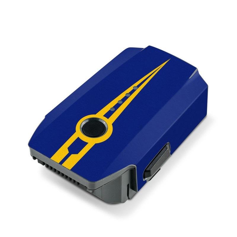 DJI Mavic Pro Battery Skin design with blue, yellow colors