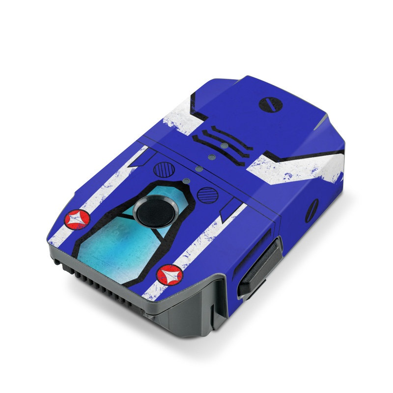DJI Mavic Pro Battery Skin design with blue, white, red colors