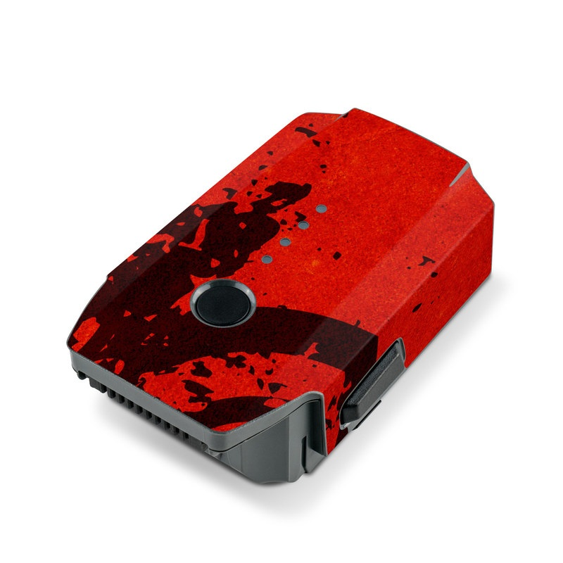 DJI Mavic Pro Battery Skin design of Red, Circle, Pattern, Design, Visual arts, Font, Graphics, Graphic design, Art, Still life photography with red, black colors