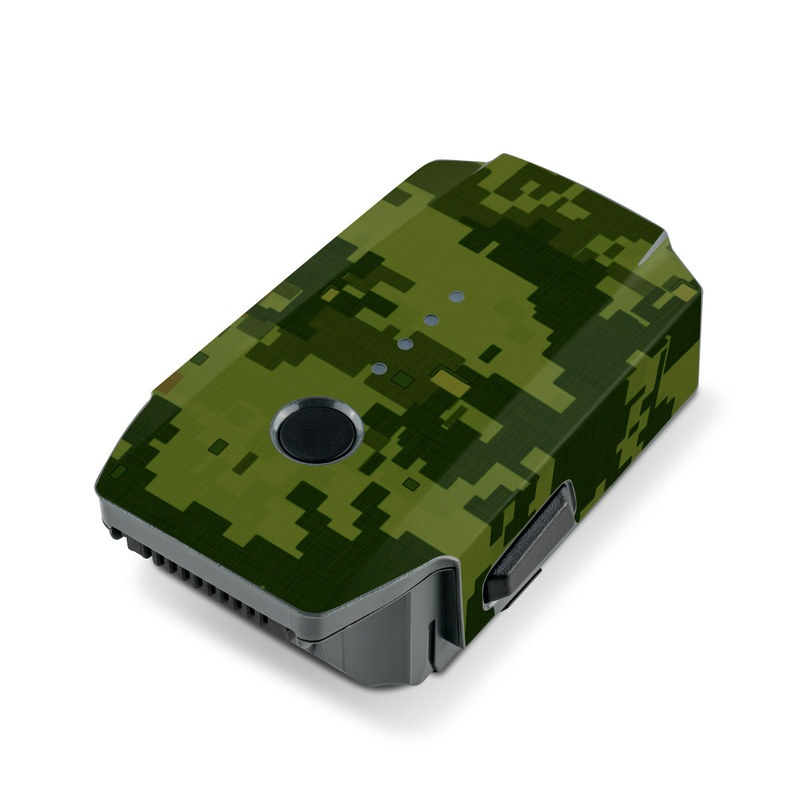 DJI Mavic Pro Battery Skin design of Military camouflage, Green, Pattern, Uniform, Camouflage, Clothing, Design, Leaf, Plant with green, brown colors