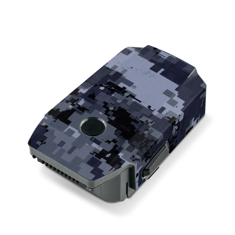DJI Mavic Pro Battery Skin design of Military camouflage, Black, Pattern, Blue, Camouflage, Design, Uniform, Textile, Black-and-white, Space with black, gray, blue colors