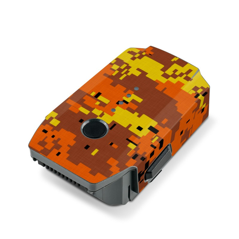 Digital Orange Camo DJI Mavic Pro Battery Skin
