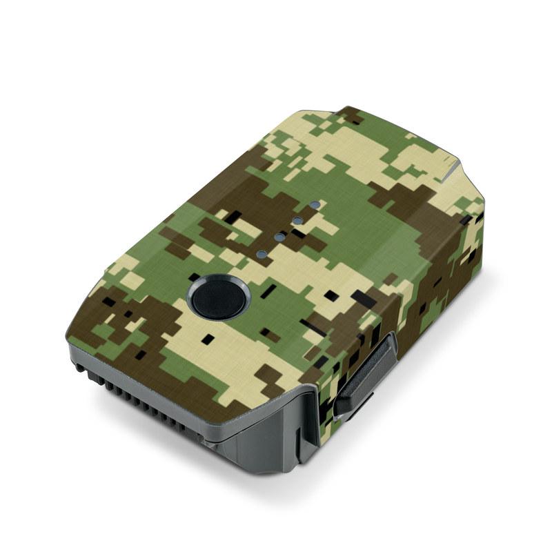 Digital Woodland Camo DJI Mavic Pro Battery Skin